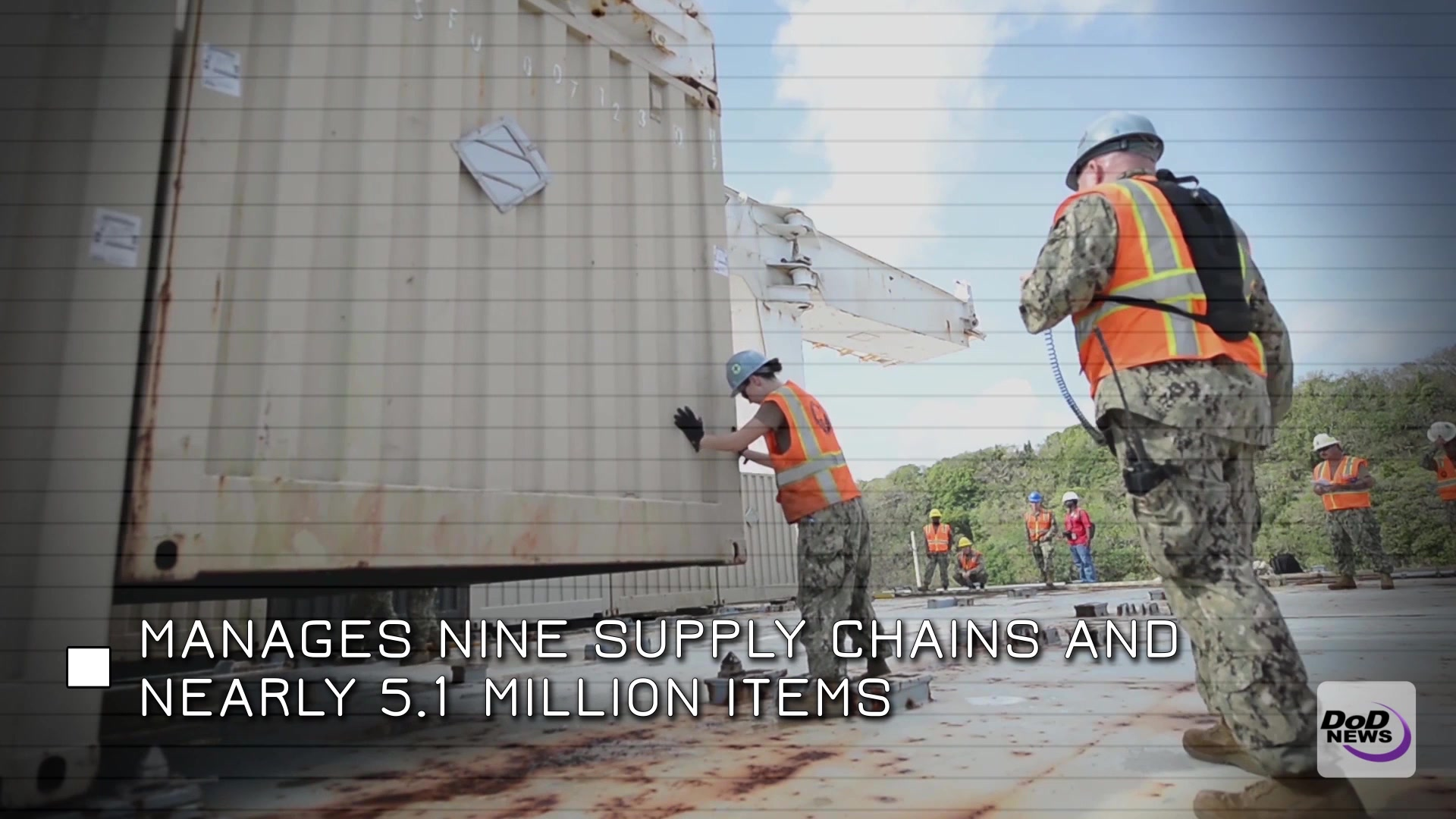 The Defense Logistics Agency provides a number of services to the Department of Defense and a number of Federal agencies. DLA sources and provides nearly all of the consumable items America's military forces need to operate – from food, fuel and energy to uniforms, medical supplies and construction material, Dec. 7, 2016.