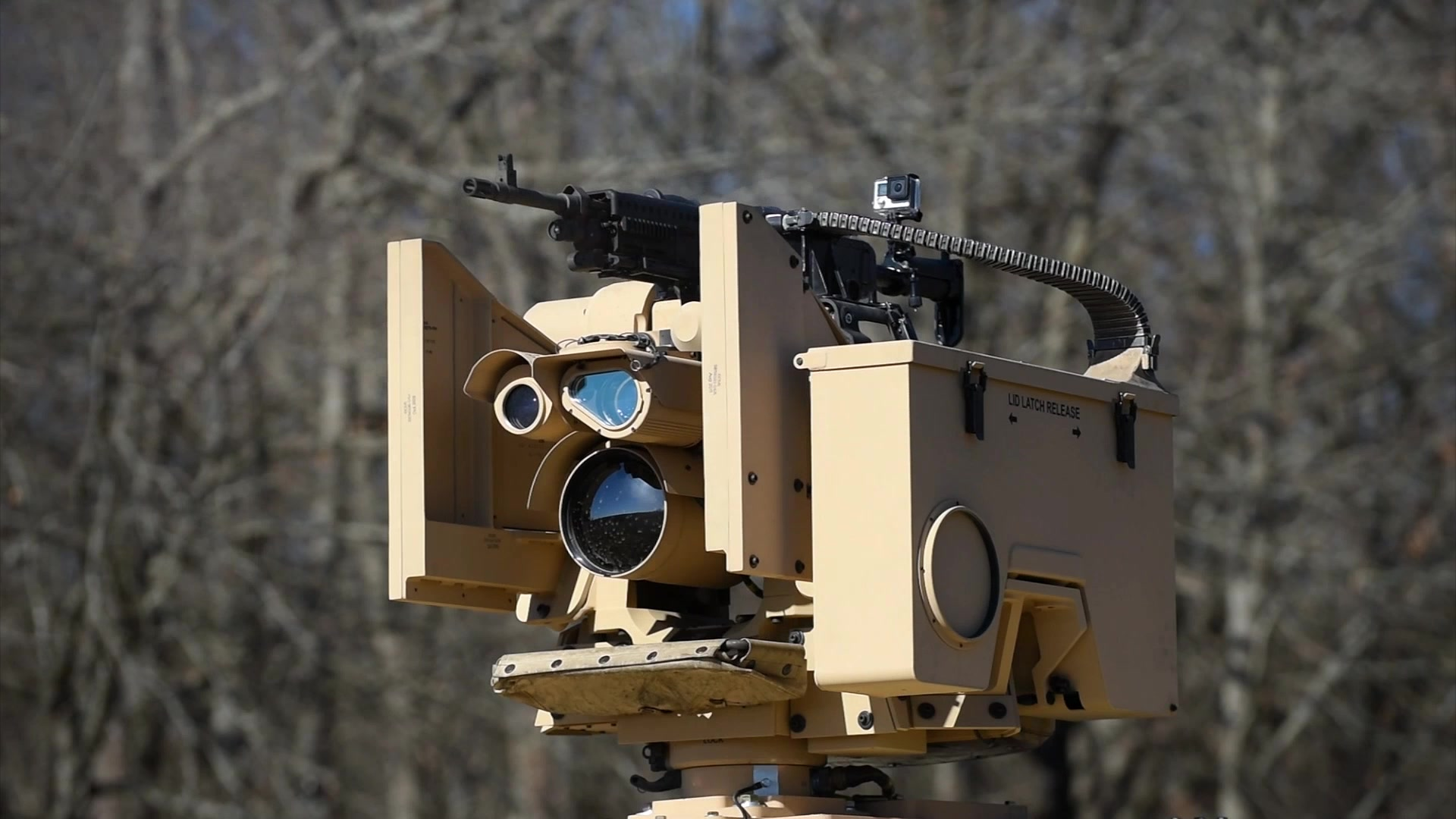 The U.S. Army Reserve is receiving a weapon technology known as the CROWS, allowing the gunner to sit safely in the back seat. The CROWS stands for Common Remotely Operated Weapon Station, mounted to the top of a vehicle, equipped with daytime and thermal cameras, able to rotate 360 degrees, see up to 1,500 meters away, and compatible with four major crew weapon systems. In all, it's estimated that 27 companies will receive the units, 19 of which are military police. The project is estimated to field approximately $39 million worth of equipment to the Army Reserve.