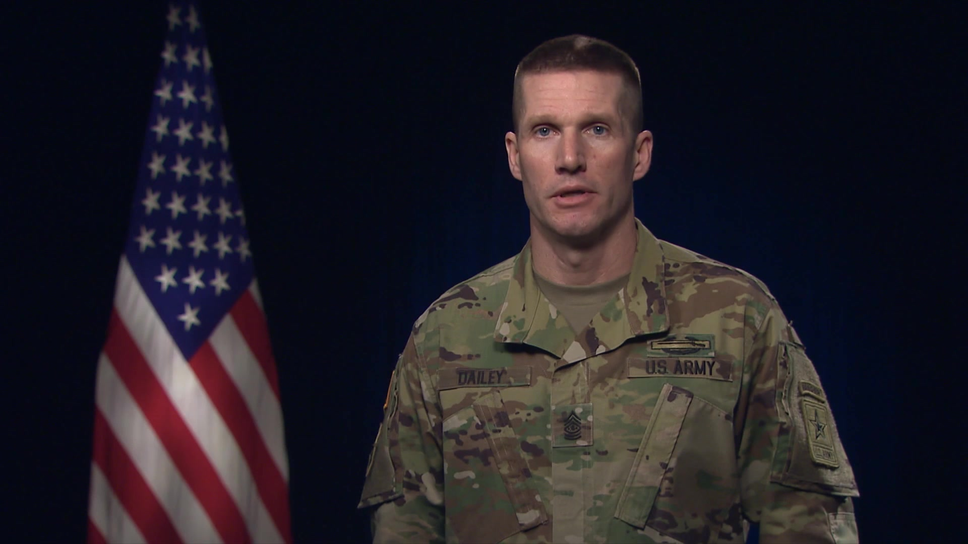 Hello, I'm Sergeant Major of the Army Dan Dailey. 
