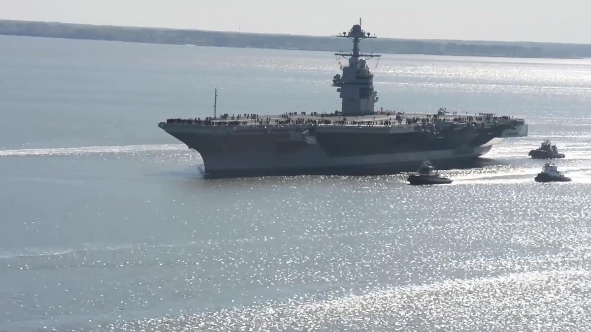 Future Uss Gerald R Ford Underway For Builder S Sea Trials