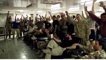 U.S. Troops World Cup Fever