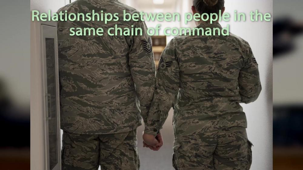 unprofessional relationships military Fraternization policies in the military are quite restrictive  fraternization outside  the workplace, in and of itself, is not necessarily harmful to department.